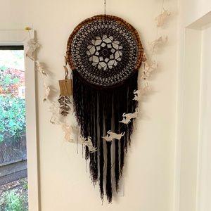 Large Boho Dreamcatcher Tulum Crochet Wall Hanging